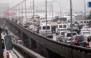 Engarrafamento na Ponte Rio-Niterói