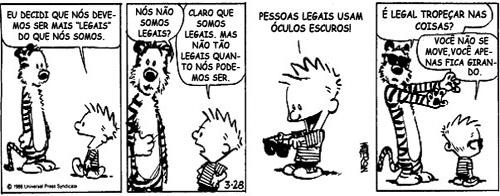 Tirinha do Calvin e Haroldo