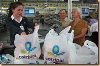 Use saco de pano no supermercado