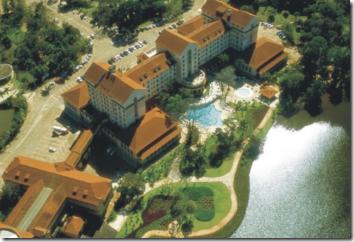 Imagem aérea do Ouro Minas Grande Hotel e Termas, em Araxá